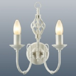 Classic 2 Arm Cream Wall Light CLA2WCR