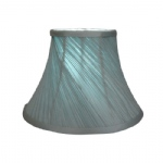 "10"" DUCK EGG TWISTED PLEAT LAMPSHADE"