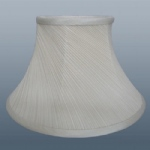 "12"" CREAM TWISTED PLEAT LAMPSHADE"