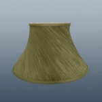 "14"" OLIVE TWISTED PLEAT LAMPSHADE"