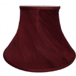 "14"" CRANBERRY TWISTED PLEAT LAMPSHADE"