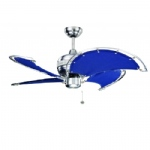 "Spinnaker Ceiling Fan With Blue Blades 40"" 111351 Blue"
